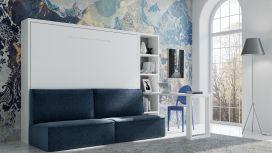 Lit escamotable horizontal avec canapé BISCARROSSE
